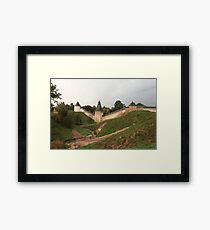 formidable medieval fortress Scenic view Framed Print