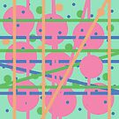 Colorful Dots and Stripes by Vitta
