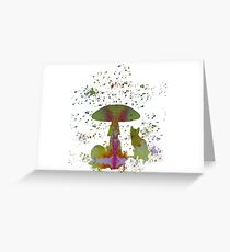 Mushroom cat Greeting Card