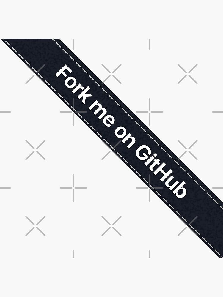 Fork me on Github Ribbon Black by kentliau