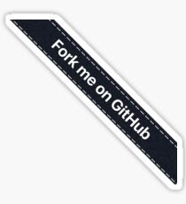 Fork me on Github Ribbon Black Sticker