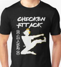 Chicken Attack Go Chicken Go White Ninja Meme T-Shirt