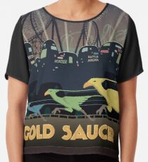 Final Fantasy VII Gold Saucer Travel Poster Chiffon Top
