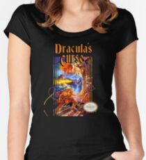 Castlevania - Dracula's Curse NES Women's Fitted Scoop T-Shirt