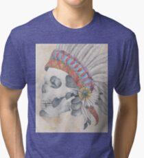 Native Skull Tri-blend T-Shirt