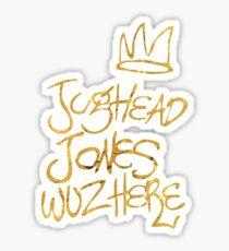 Riverdale - Jughead Jones Wuz Here (Gold version) - Archie Comics Sticker
