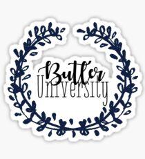 Butler University Wreath Sticker