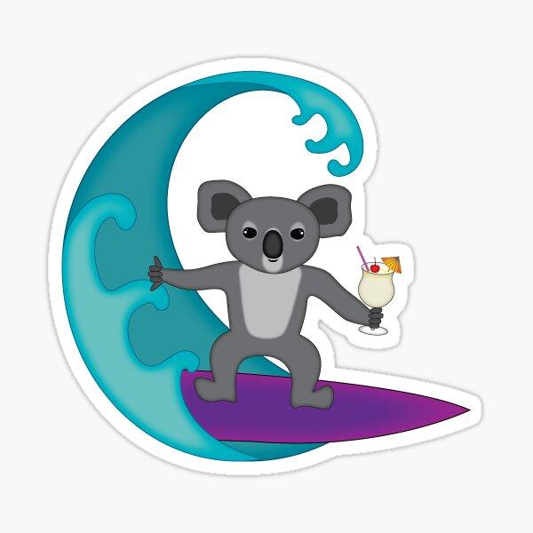 Surfing Koala Sticker