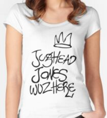 Riverdale - Jughead Jones Wuz Here (Black version) - Archie Comics Women's Fitted Scoop T-Shirt