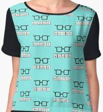 Books chemcial Element Nerd glasses Rh6zg Women's Chiffon Top