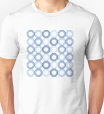Blue and White Octagons Unisex T-Shirt