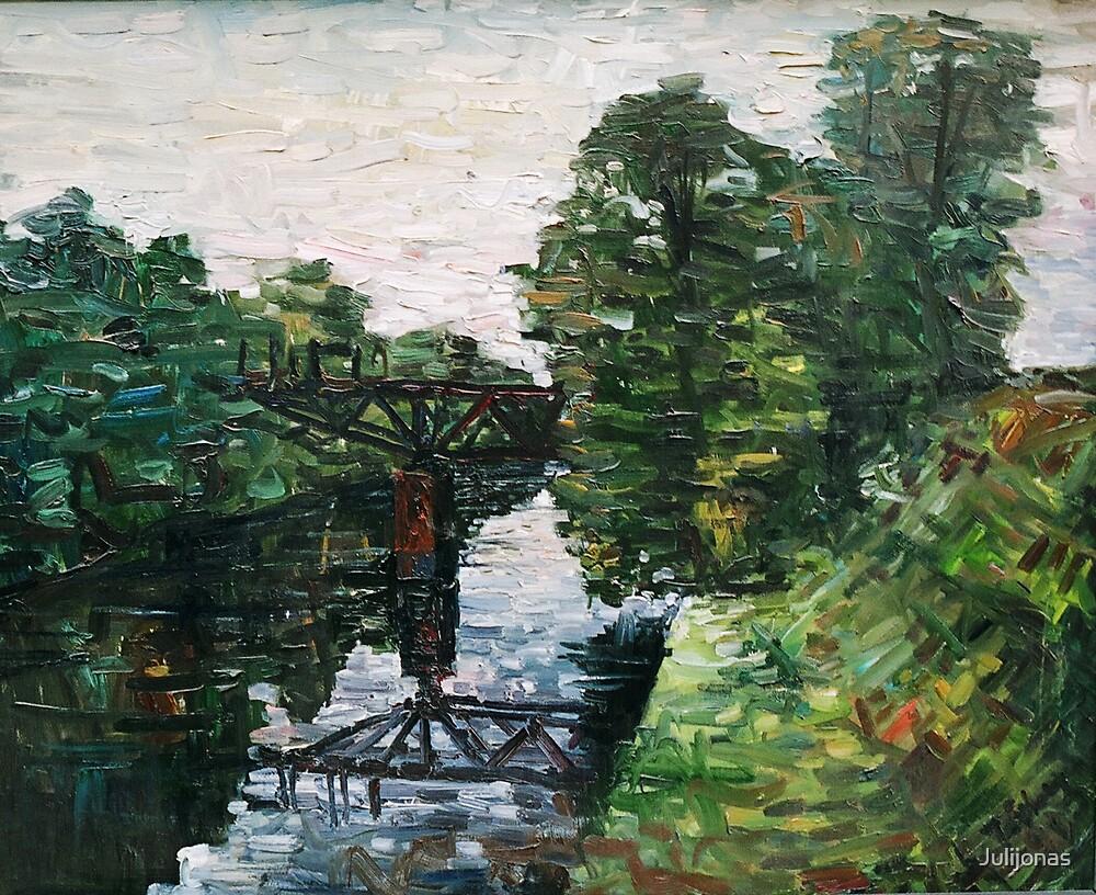 Vilhelmo kanalas ties Lantupiais (The Vilhelm canal close of the Lantupiai village) by Julijonas