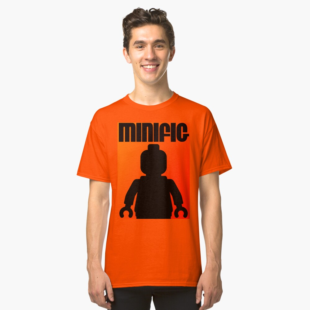 Retro Large Black Minifig, Customize My Minifig Classic T-Shirt Front