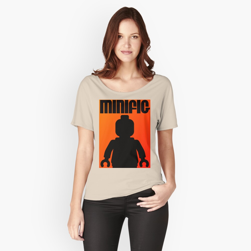 Retro Large Black Minifig, Customize My Minifig Women's Relaxed Fit T-Shirt Front