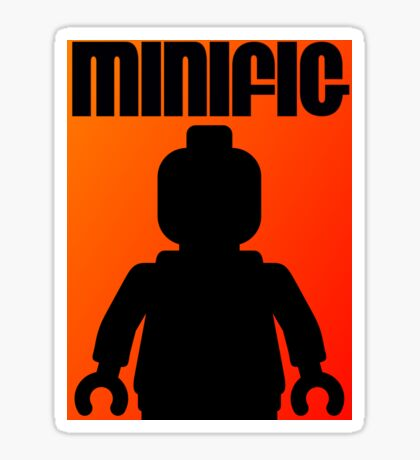 Retro Large Black Minifig, Customize My Minifig Sticker