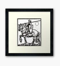 Crusader Knight with Chi-Ro Shield Framed Print