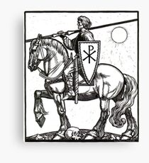 Crusader Knight with Chi-Ro Shield Canvas Print
