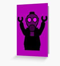 Apocalyse Minifigure wearing Gasmask Greeting Card