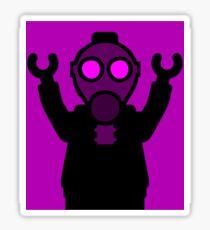 Apocalyse Minifigure wearing Gasmask Sticker