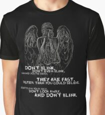 Doctor Who-Don't Blink Speech  Graphic T-Shirt