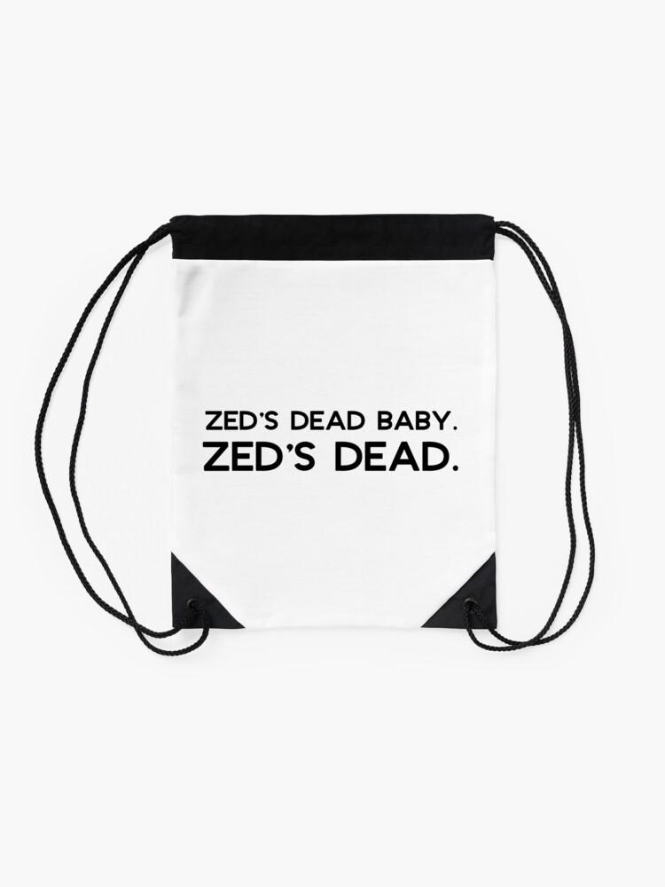Alternate view of Pulp Fiction - Zed's dead baby. Zed's dead. Drawstring Bag