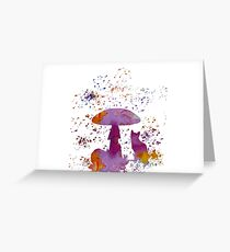 Cat and mushroom Greeting Card