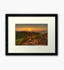 Sharp Edge Framed Print