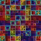 Shiny Futuristic  Squares by Julie Everhart
