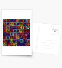 Shiny Futuristic  Squares Postcards