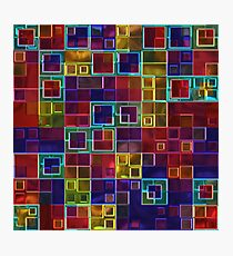 Shiny Futuristic  Squares Photographic Print
