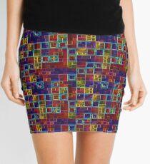 Shiny Futuristic  Squares Mini Skirt