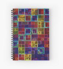 Shiny Futuristic  Squares Spiral Notebook