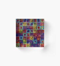 Shiny Futuristic  Squares Acrylic Block