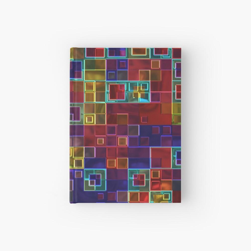 Shiny Futuristic  Squares Hardcover Journal