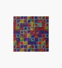 Shiny Futuristic  Squares Art Board Print