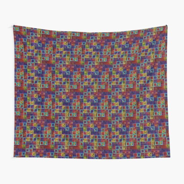 Shiny Futuristic  Squares Tapestry