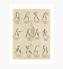 "Longsword Positions - Fiore dei Liberi ""Getty"" Art Print"