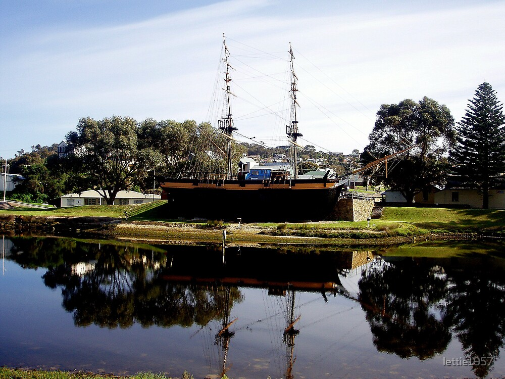 Reflection of  Old ship in Albany SW Australia  by lettie1957