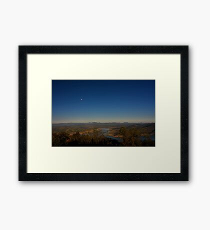Eildon Lake Sysytem, The Delatite Arm Framed Print