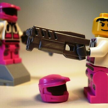 Halo Wars Pink Spartan Soldier Custom Minifigure by Chillee