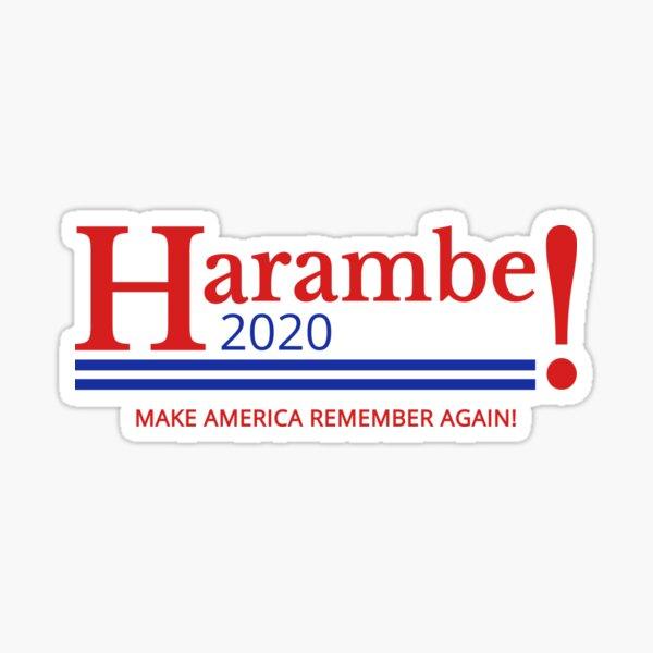 Harambe for President Logo 2020 Sticker