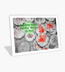 Sweet Holiday Wishes Card Laptop Skin