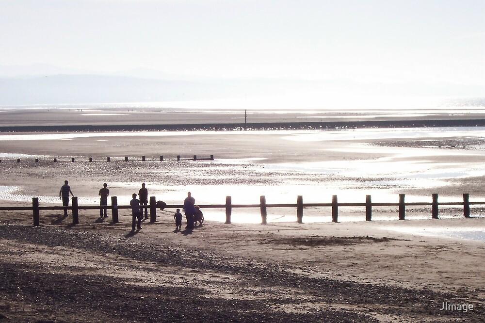 Silver Beach Scene by JImage