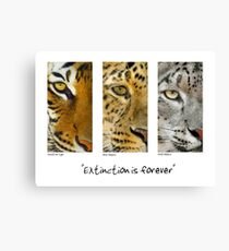 Extinction is forever Canvas Print