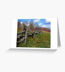 blueridge fence Greeting Card