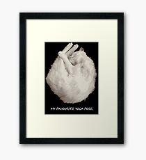 My Favourite Yoga Pose. Meow. Framed Print