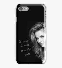 Save the world iPhone Case/Skin