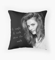 Save the world Throw Pillow