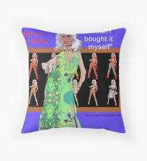 Niki Fashion Model Interviewed Throw Pillow