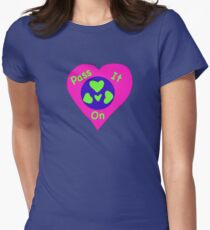 Love - Pass it on Womens Fitted T-Shirt